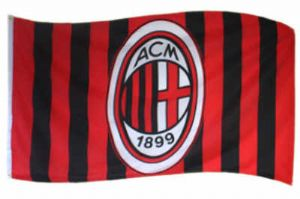 AC Milan Football Club Large Flag - 5' x 3'.